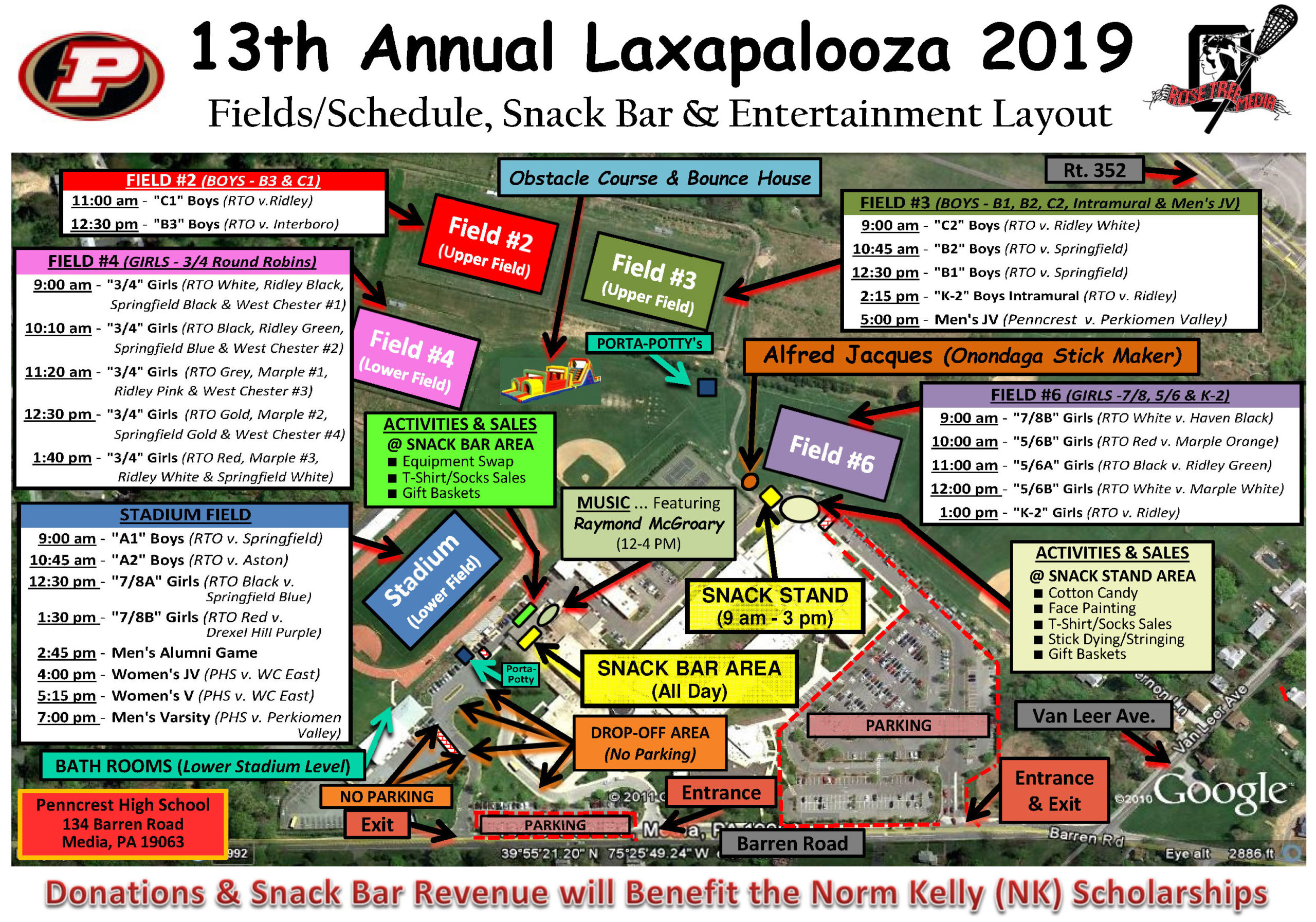 Laxapalooza Field Map & Schedule_2019 (FINAL)