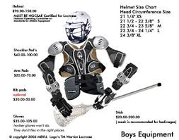 Boys Lax equipment